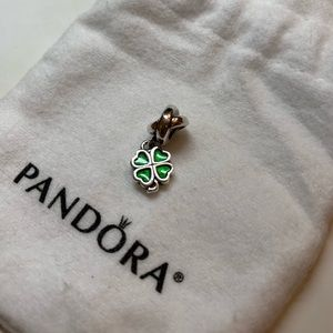 Pandora Sterling Silver Four-Leaf Clover charm